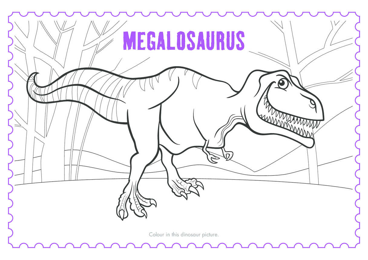 Living with Dinosaurs Colouring In Sheet