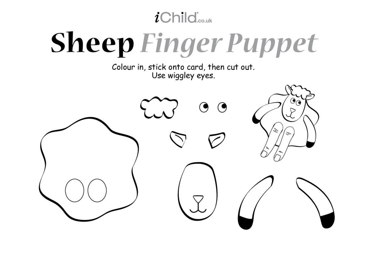 Finger puppet of a Sheep