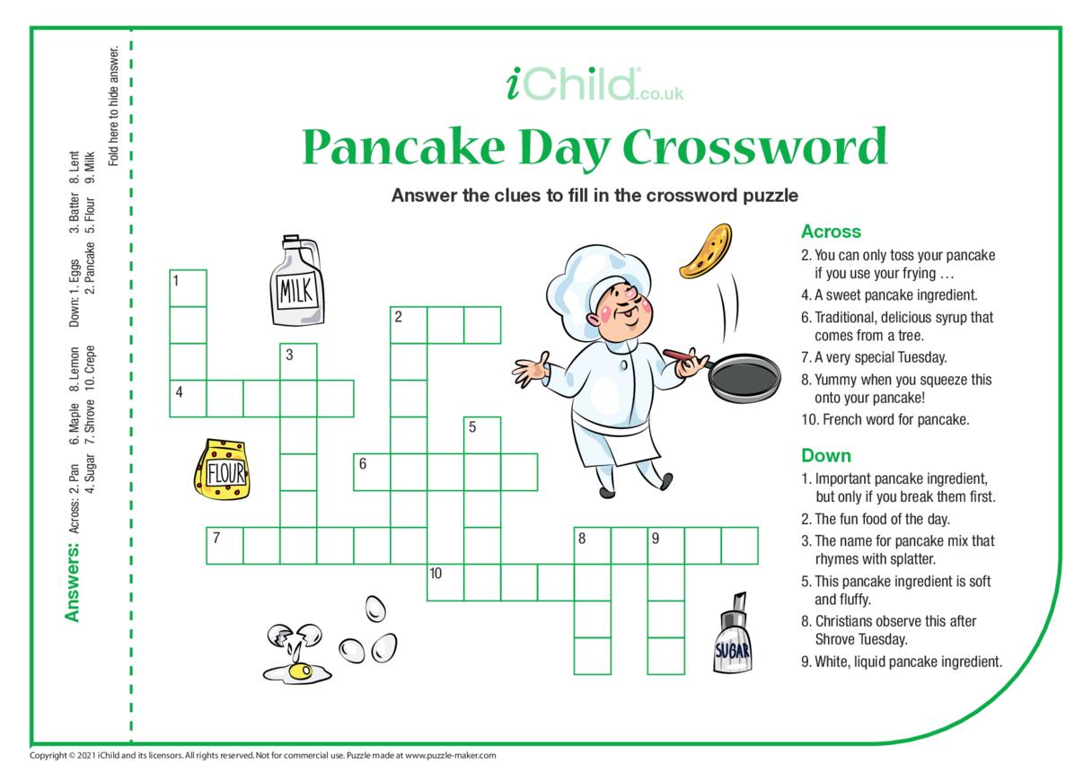 Pancake Day Crossword