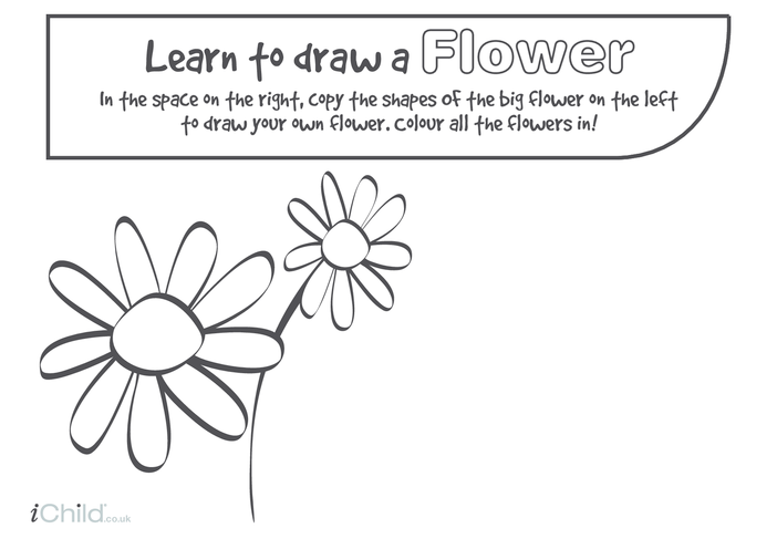 Thumbnail image for the Learn to Draw a Flower activity.