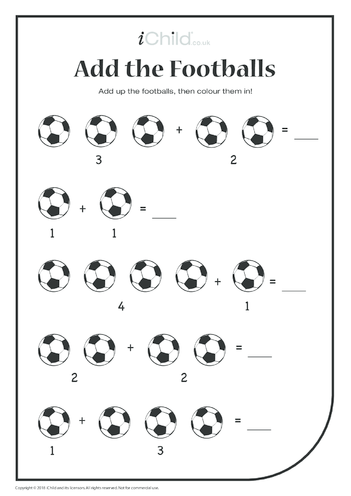 Thumbnail image for the Add the Footballs activity.
