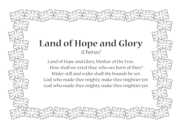 Thumbnail image for the Land of Hope and Glory Song Lyrics activity.