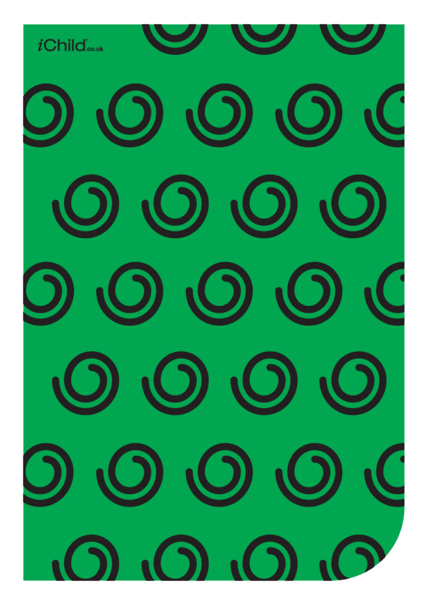 Contrasting Colours Poster: Swirly Pattern