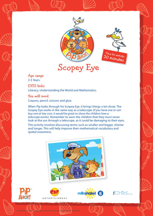 EYFS Lesson Plan: Scopey Eye (Pip Ahoy!)