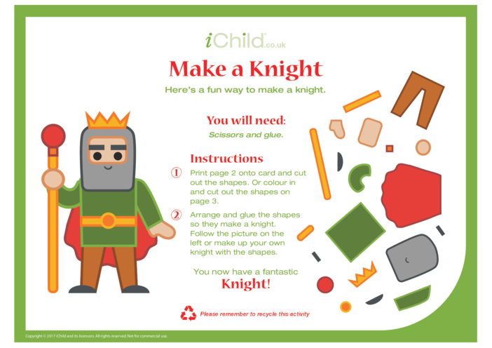 Thumbnail image for the Make a Knight Craft  activity.