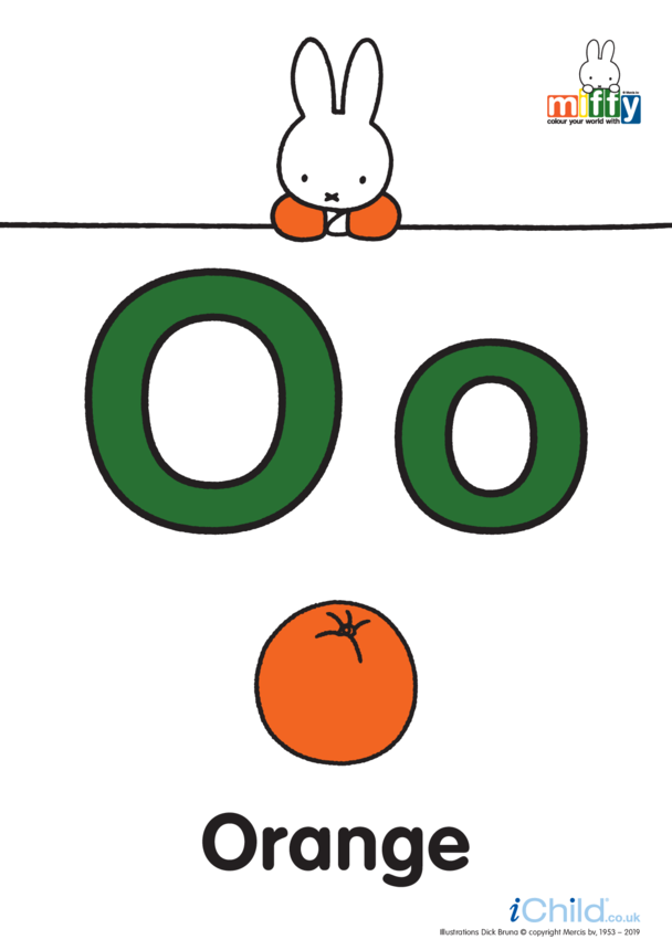 O: Miffy's letter Oo (less ink)