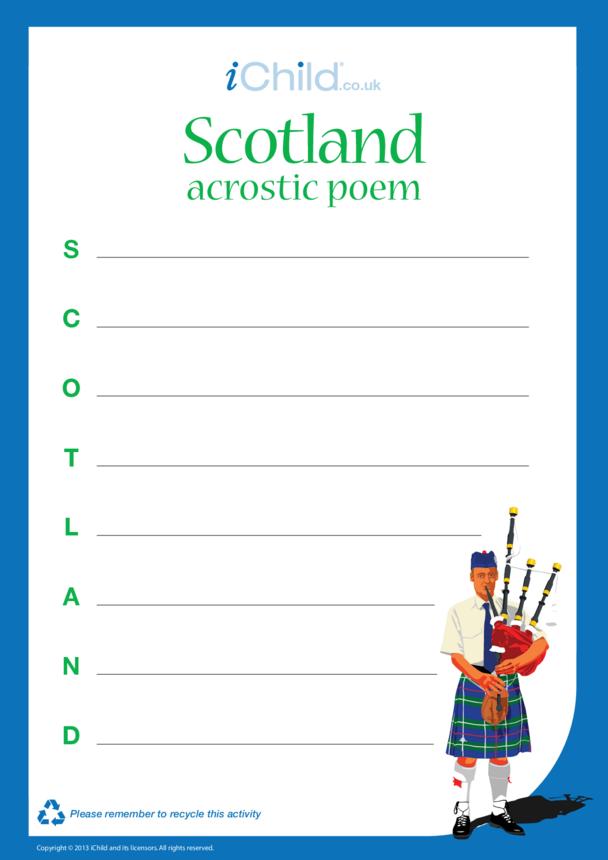 Scotland Acrostic Poem