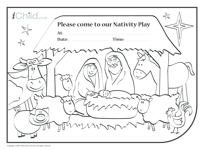 Thumbnail image for the Nativity Play Invitations activity.
