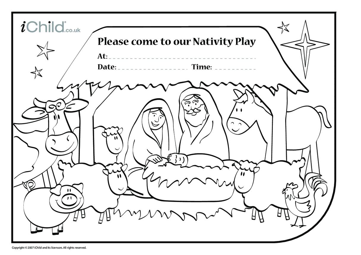 Nativity Play Invitations