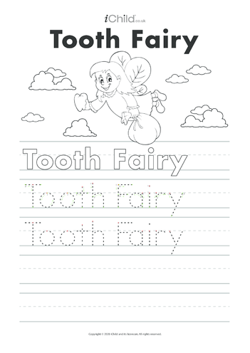 Thumbnail image for the Tooth Fairy Handwriting Activity activity.