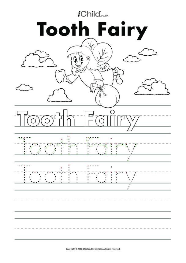 Tooth Fairy Handwriting Activity