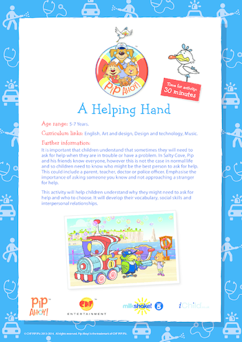 Thumbnail image for the Key Stage 1 Lesson Plan: A Helping Hand (Pip Ahoy!) activity.
