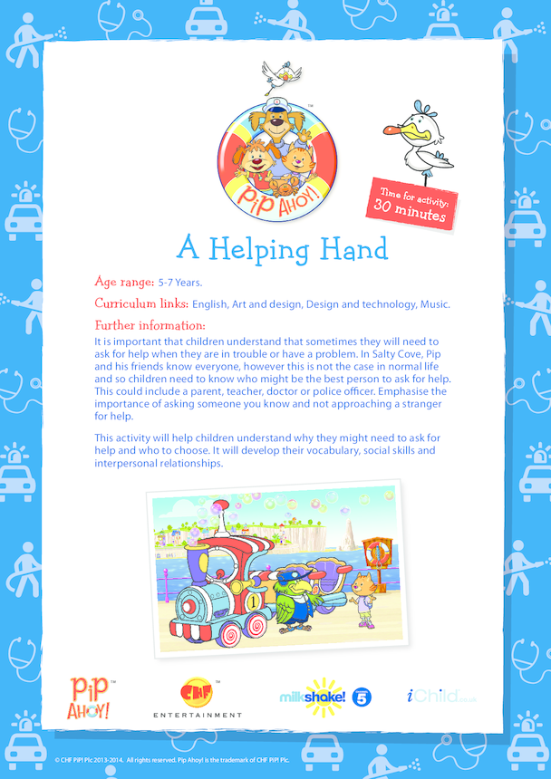 Key Stage 1 Lesson Plan: A Helping Hand (Pip Ahoy!)