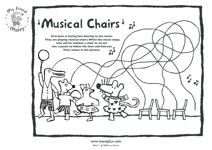 Thumbnail image for the Maisy Party Kit: Musical Chairs activity.