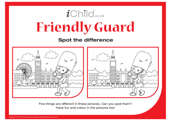 Thumbnail image for the Friendly Guard Spot the Difference activity.