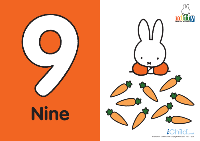 Thumbnail image for the Number 9 with Miffy activity.