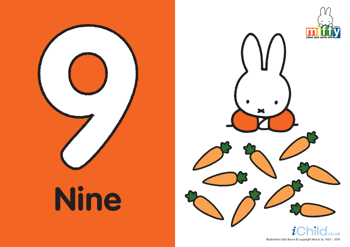 Number 9 with Miffy