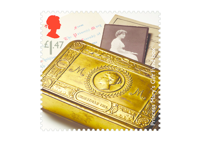 Thumbnail image for the Royal Mail iStamp Club The Great War 1914 - Princess Gift Box Stamp activity.