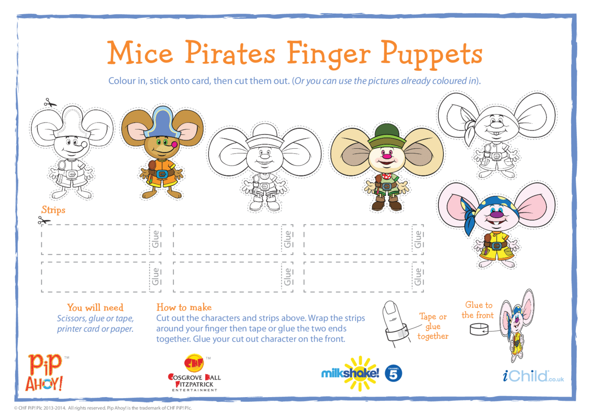 Mice Pirates Finger Puppets (Pip Ahoy!)