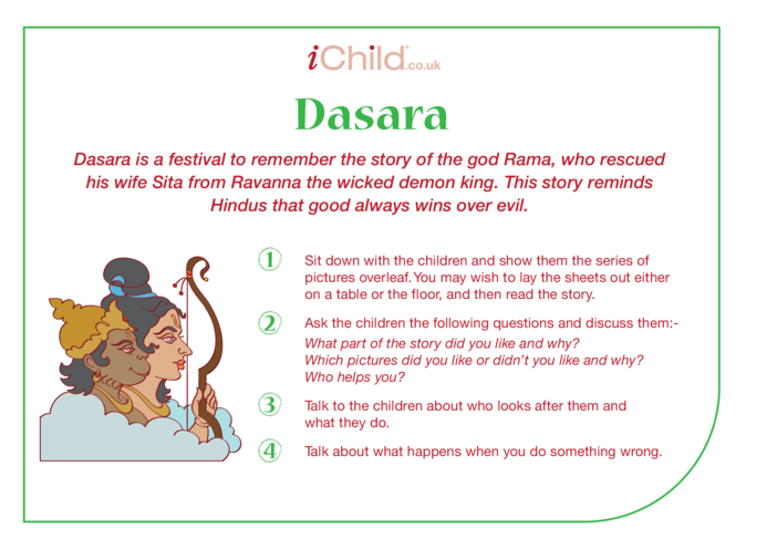 Thumbnail image for the Dasara Religious Festival Story activity.