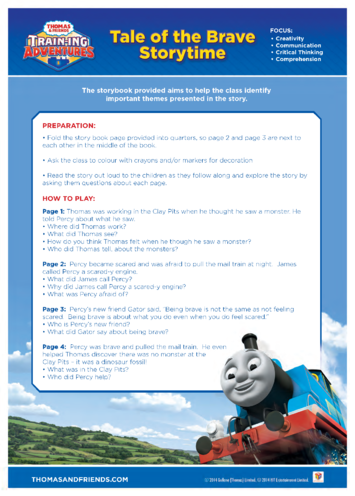 Thumbnail image for the Activity: Tale of the Brave Storytime (Thomas & Friends) activity.