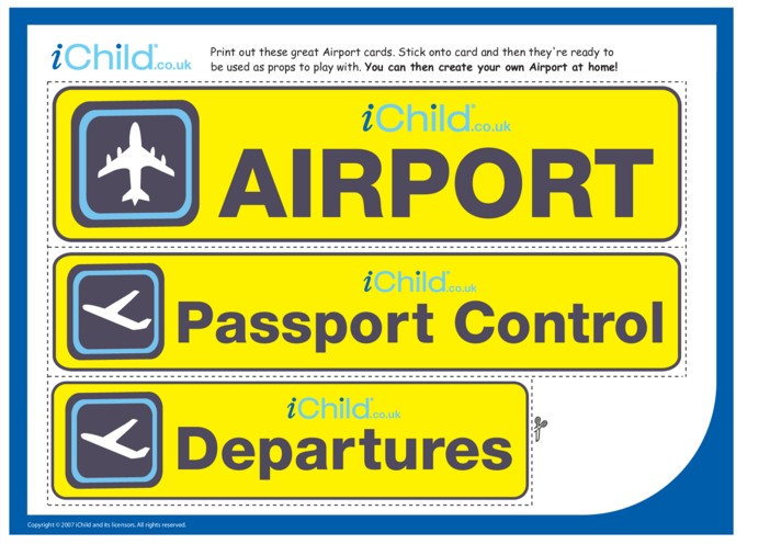 Thumbnail image for the Airport Role Play activity.