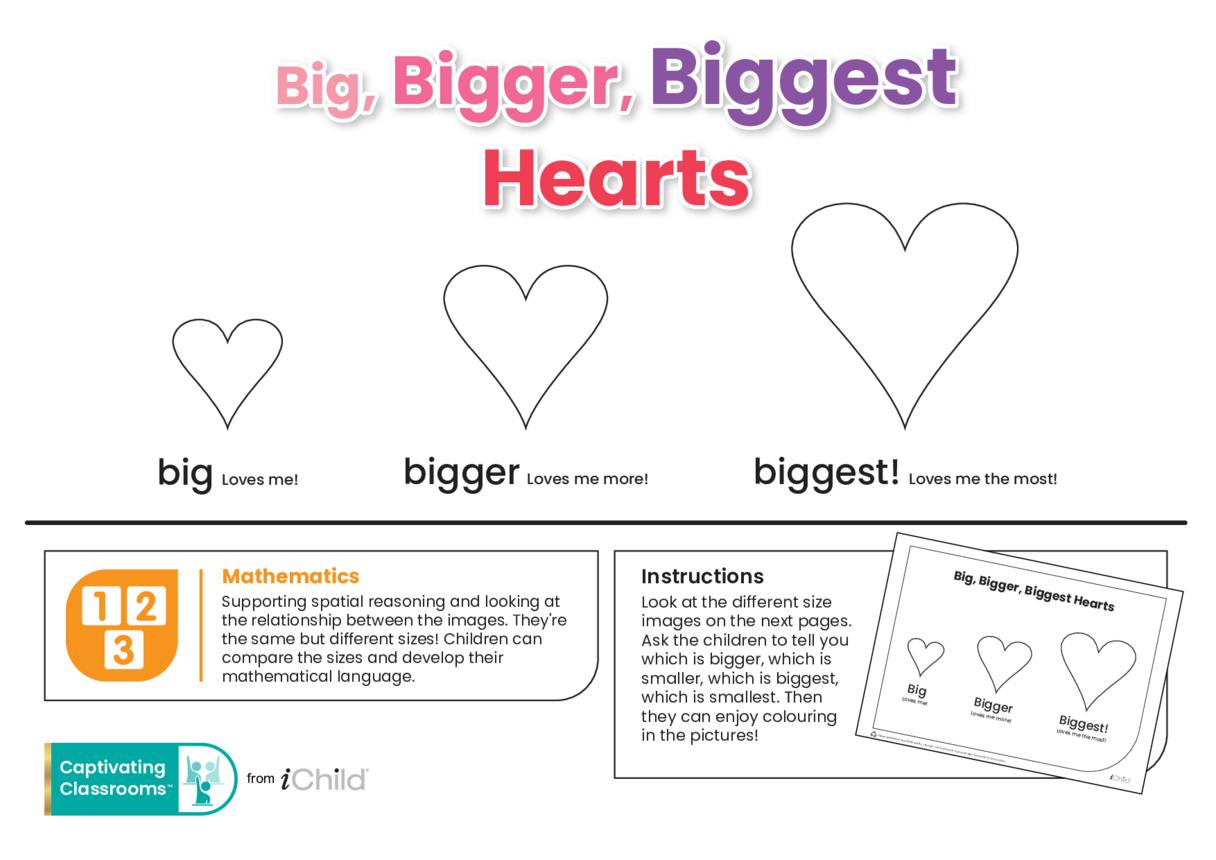 Big, Bigger & Biggest Valentine Hearts