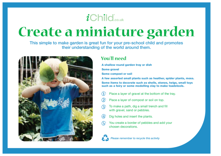 Thumbnail image for the Create a Miniature Garden activity.