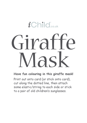 Thumbnail image for the Giraffe Animal Mask activity.