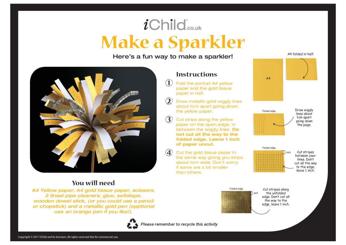 Make a Sparkler Craft