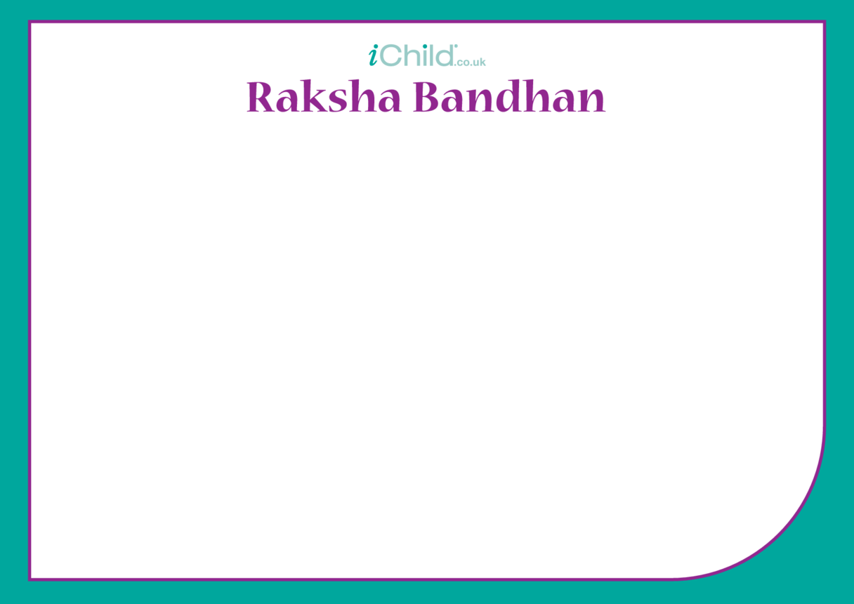Raksha Bandhan Blank Drawing Template