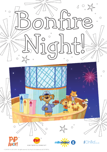 Thumbnail image for the Bonfire Night Colour In Poster (Pip Ahoy!) activity.