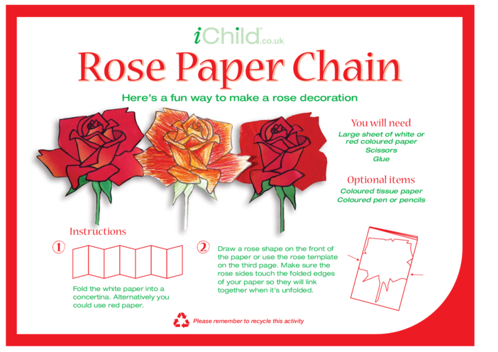 Thumbnail image for the Rose Paper Chain activity.