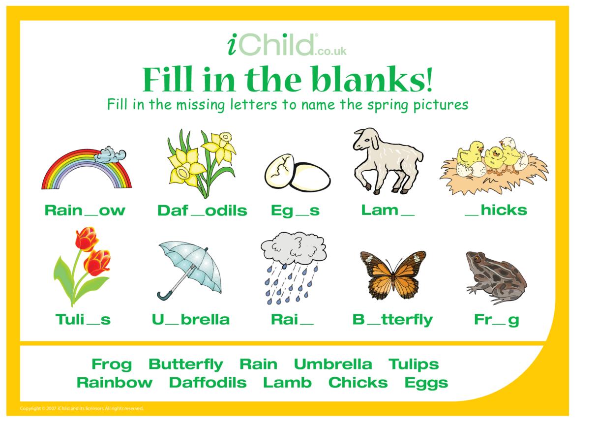 Fill in the Blanks - Spring