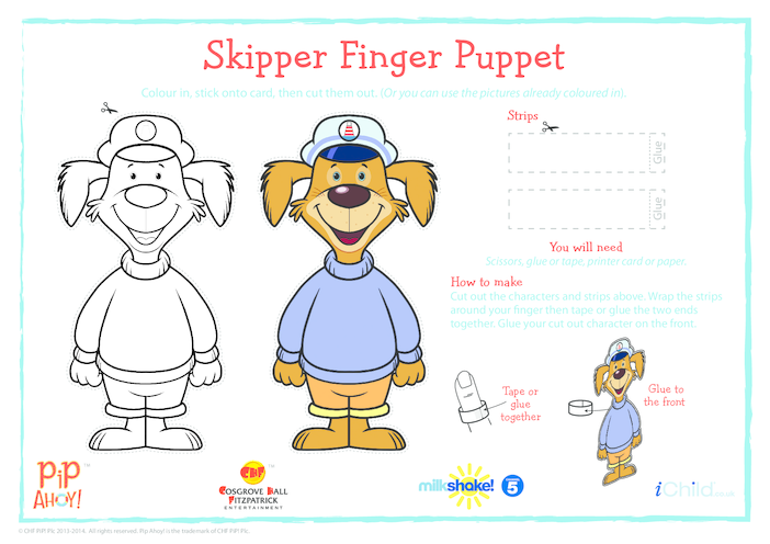 Thumbnail image for the Uncle Skipper Finger Puppet (Pip Ahoy!) activity.