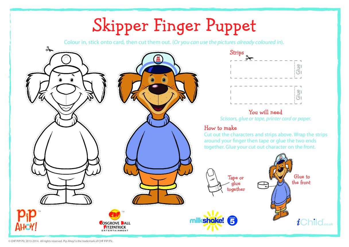Uncle Skipper Finger Puppet (Pip Ahoy!)