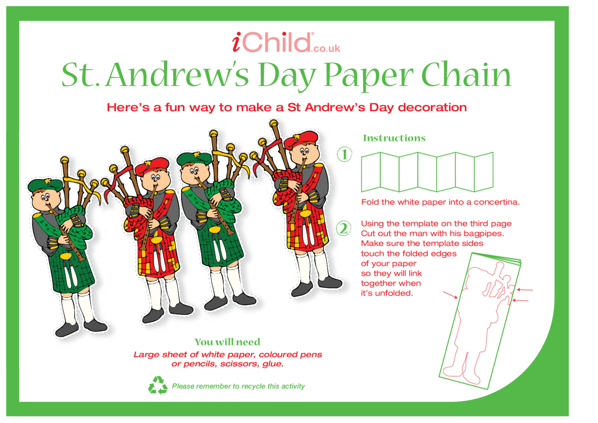 St. Andrew's Day Paper Chain