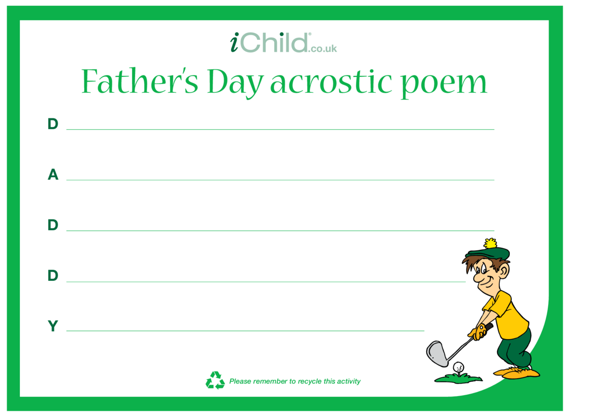 Father's Day Daddy Acrostic Poem