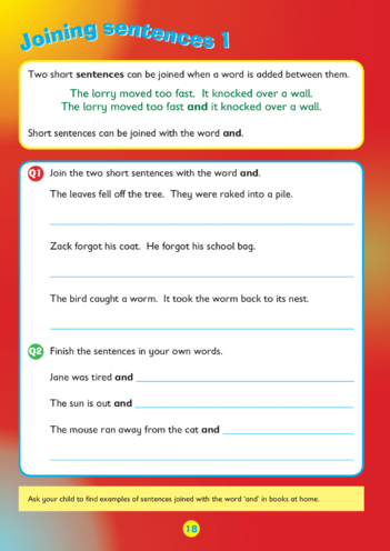 Thumbnail image for the Collins Easy Learning KS1 English Grammar, Sentences activity.