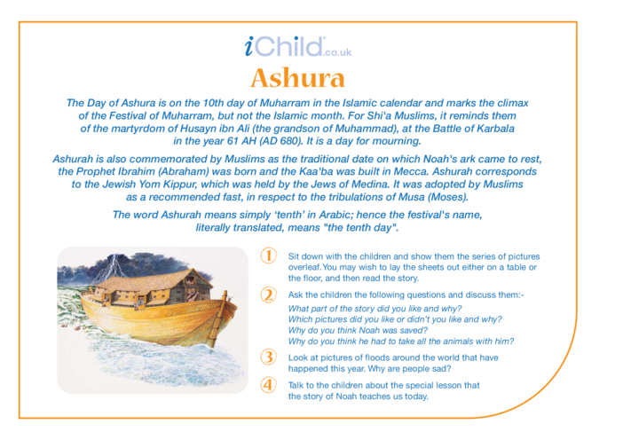 Thumbnail image for the Ashura Religious Festival Story activity.