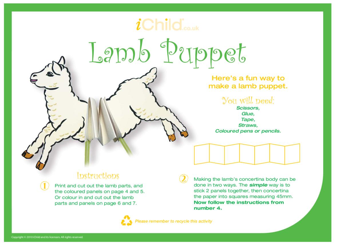 Spring Lamb Craft Puppet