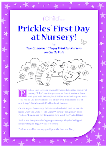 Thumbnail image for the Prickles' First Day at Nursery activity.