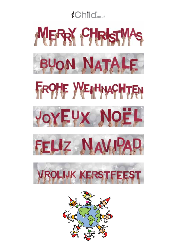 Happy Christmas Language Poster