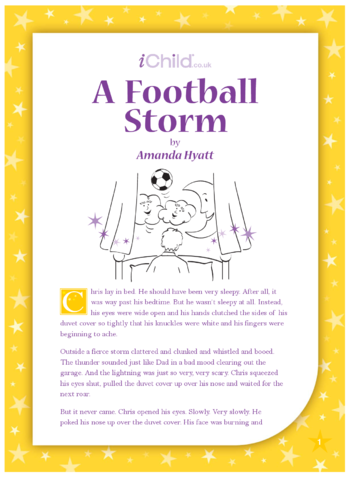 Thumbnail image for the A Football Storm activity.