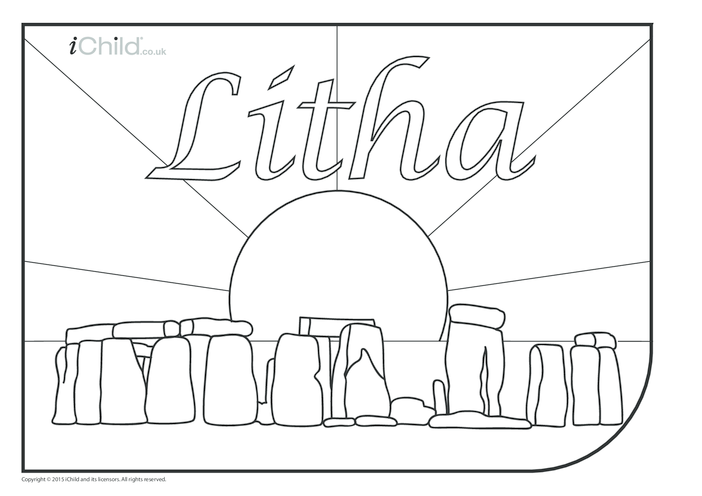 Thumbnail image for the Litha Colouring in Picture activity.