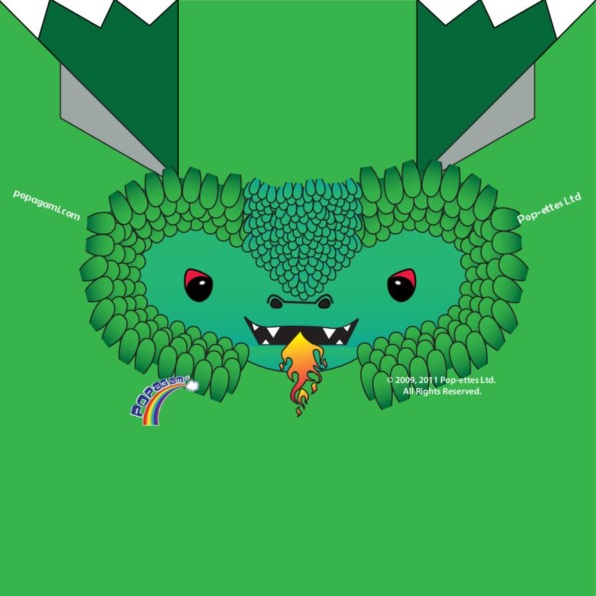 Origami/Popagami Dragon