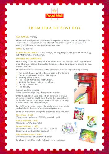Thumbnail image for the 2013_Primary 1) From Idea to Post Box Lesson Plan activity.