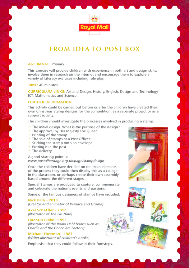 2013_Primary 1) From Idea to Post Box Lesson Plan