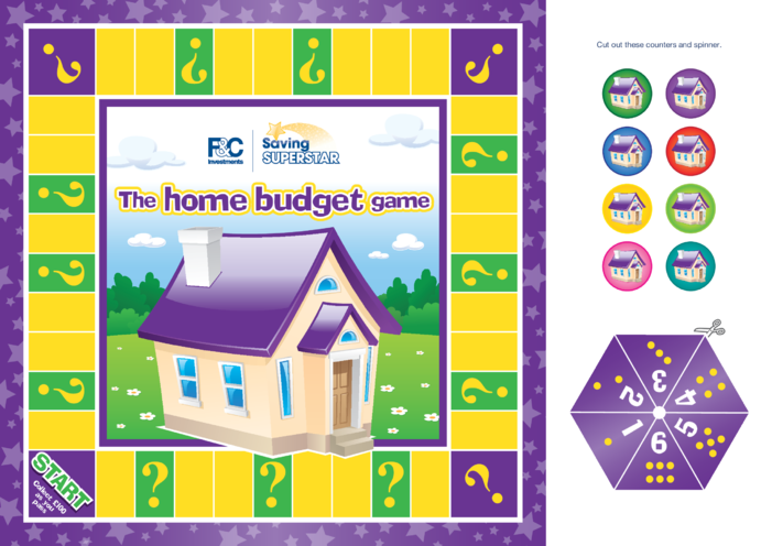Thumbnail image for the 7-11 years (ten B) Home Budget Board Game activity.