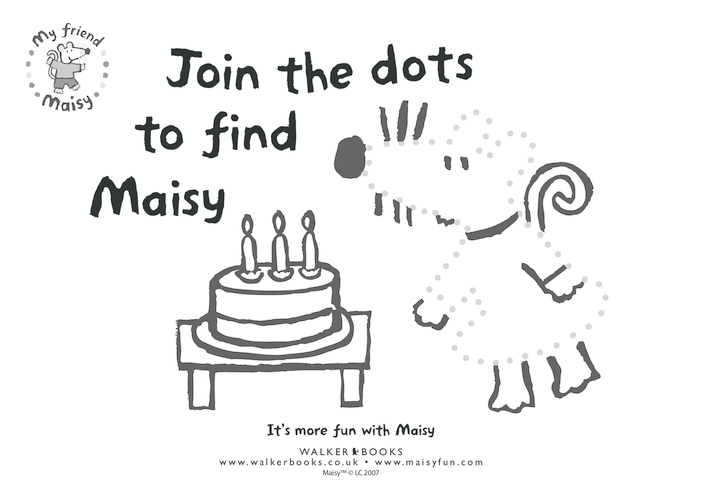 Thumbnail image for the Maisy Dot to Dot activity.